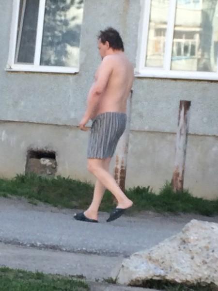 Мужчина Ходит Голый
