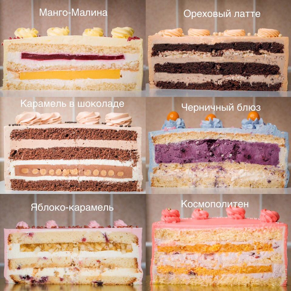 начинки тортов в разрезе фото с описанием это