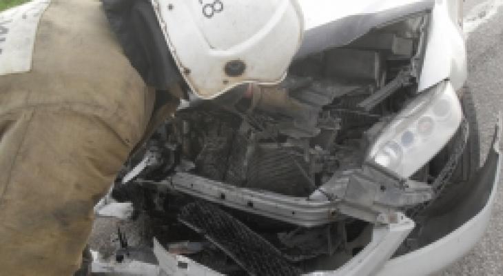В Сосногорском районе в ДТП пострадали два человека
