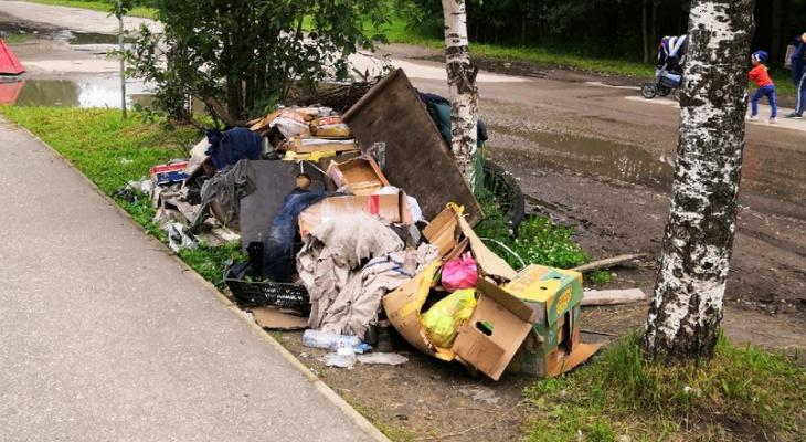 В Сосногорске куча мусора растет с каждым днем