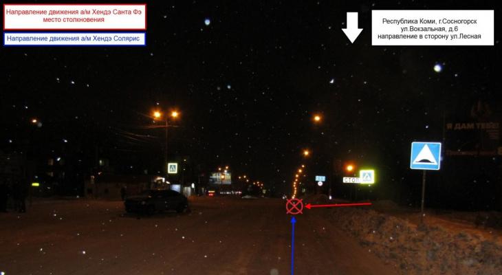 В Сосногорске ищут виновника ДТП с двумя иномарками