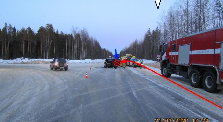 Под Сосногорском произошла крупная авария с пострадавшими