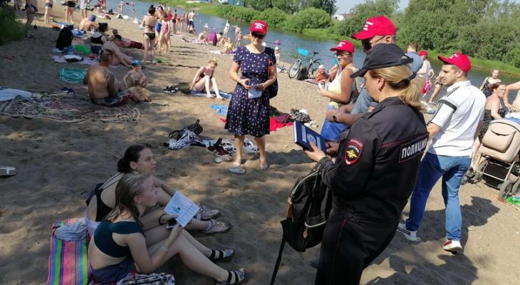 На ухтинском пляже аншлаг. К горожанам вышли власти, общественники и МВД