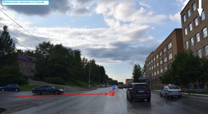 В Ухте неопытный водитель спровоцировал аварию