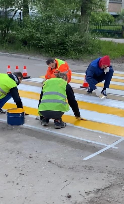 Ухта не будет платить подрядчику за некачественную разметку на дорогах